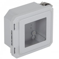"EF060604-W STI EnviroArmour Fiberglass Enclosure - 6.77"" H x 6.77"" W x 4.06"" D - Clear Window - Non-Returnable"