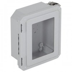 "EF080604-W STI EnviroArmour Fiberglass Enclosure - 8.77"" H x 6.77"" W x 4.06"" D - Clear Window - Non-Returnable"