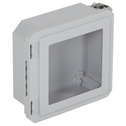 "EF080804-W STI EnviroArmour Fiberglass Enclosure - 8.74"" H x 8.74"" W x 4.06"" D - Clear Window - Non-Returnable"