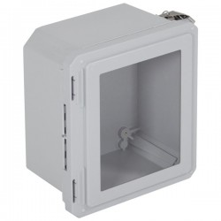 "EF100806-W STI EnviroArmour Fiberglass Enclosure - 10.73"" H x 8.73"" W x 6.06"" D - Clear Window - Non-Returnable"