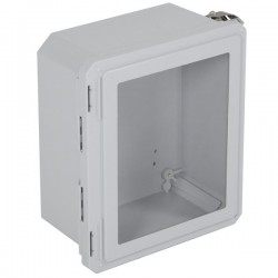 "EF121006-W STI EnviroArmour Fiberglass Enclosure - 12.69"" H x 10.69"" W x 6.06"" D - Clear Window - Non-Returnable"