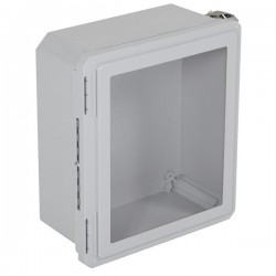 "EF141206-W STI EnviroArmour Fiberglass Enclosure - 14.72"" H x 12.72"" W x 6.06"" D - Clear Window - Non-Returnable"