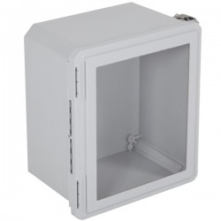 "EF141208-W STI EnviroArmour Fiberglass Enclosure - 14.72"" H x 12.72"" W x 8.06"" D - Clear Window - Non-Returnable"