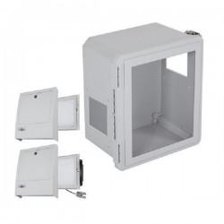 EF141208-W3 STI Fiberglass Enclosure with NEMA 3R Filter Fan w/ Filter Vent 14 x 12 x 8 with Window