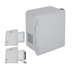EF161408-O3 STI Fiberglass Enclosure with NEMA 3R Filter Fan w/ Filter Vent 16 x 14 x 8 Opaque