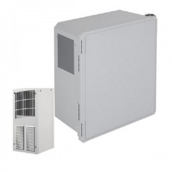 EF181610-O1 STI Fibgerglass Enclosure with Air Conditioner 18 x 16 x 10 Opaque