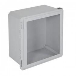 "EF181610-W STI EnviroArmour Fiberglass Enclosure - 18.63"" H x 16.63"" W x 10.06"" D - Clear Window - Non-Returnable"