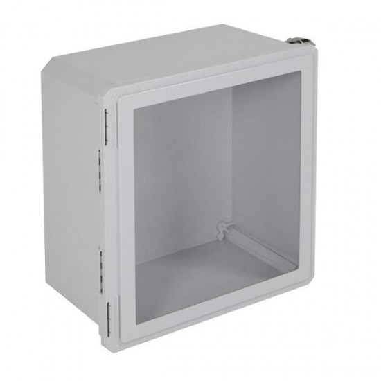 "EF181610-W STI EnviroArmour Fiberglass Enclosure - 18.63"" H x 16.63"" W x 10.06"" D - Clear Window - Non-Returnable"