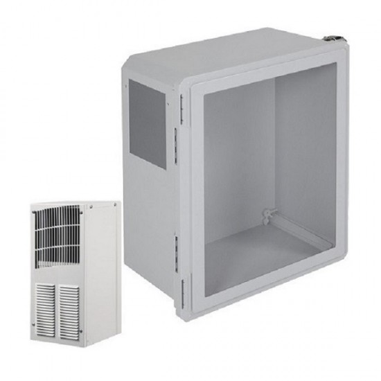 EF181610-W1 STI Fibgerglass Enclosure with Air Conditioner 18 x 16 x 10 with Window - Non-Returnable