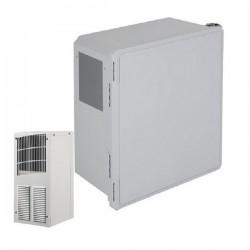 EF201610-O1 STI Fibgerglass Enclosure with Air Conditioner 20 x 16 x 10 Opaque