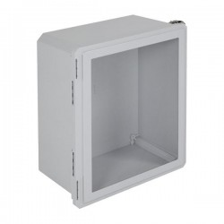 "EF201610-W STI EnviroArmour Fiberglass Enclosure - 20.63"" H x 16.63"" W x 10.06"" D - Clear Window - Non-Returnable"