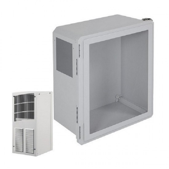 EF201610-W1 STI Fibgerglass Enclosure with Air Conditioner 20 x 16 x 10 with Window