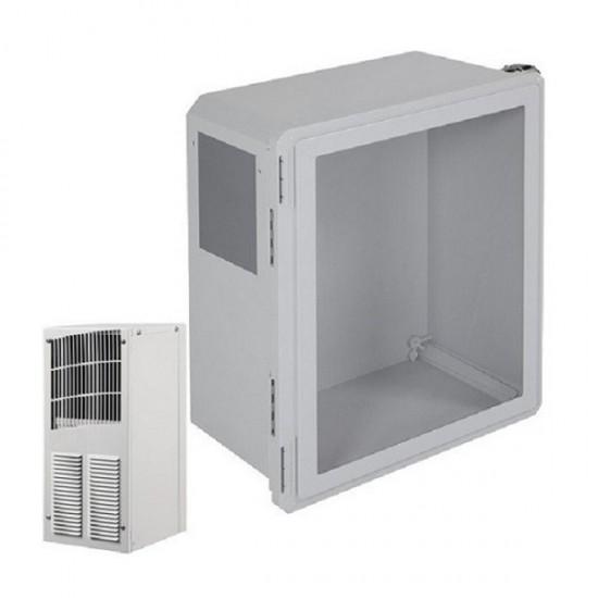 EF201610-W1 STI Fibgerglass Enclosure with Air Conditioner 20 x 16 x 10 with Window - Non-Returnable