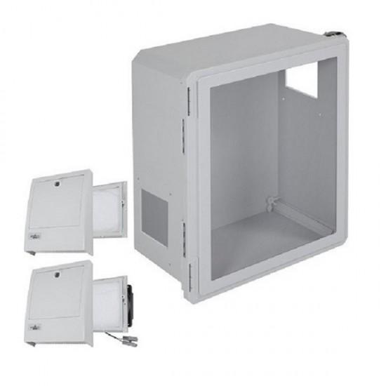 EF201610-W3 STI Fiberglass Enclosure with NEMA 3R Filter Fan w/ Filter Vent 20 x 16 x 10 with Window