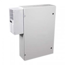 "EM362408A STI UL Listed 36"" H x 24"" W x 8"" D Metal Electrical Enclosure with AC/Heater - No Window"