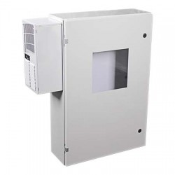 "EM362408WA STI UL Listed 36"" H x 24"" W x 8"" D Metal Electrical Enclosure with AC/Heater and Window"