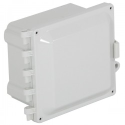 "EP060605-O STI EnviroArmour Polycarbonate Enclosure - 6"" H x 6"" W x 5"" D - White - Non-Returnable"