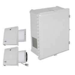 EP161409-O3 STI Polycarbonate Enclosure with NEMA 3R Filter Fan w/ Filter Vent 16 x 14 x 9 Opaque - Non-Returnable