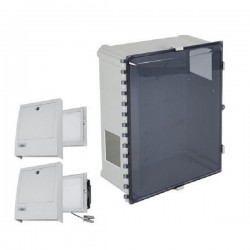 EP161409-T3 STI Polycarbonate Enclosure with NEMA 3R Filter Fan w/ Filter Vent 16 x 14 x 9 Tinted - Non-Returnable