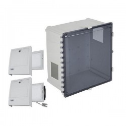 EP181611-T3 STI Polycarbonate Enclosure with NEMA 3R Filter Fan w/Filter Vent 18 x 16 x 11 Tinted