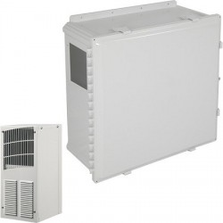 EP242410-O1 STI Polycarbonate Enclosure with Air Conditioner 24 x 24 x 10 Opaque - Non-Returnable