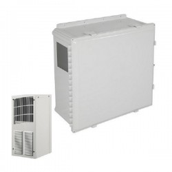 EP242410-O2 STI Poycarbonate Enclosure with A/C and Heat 24 x 24 x 10 Opaque