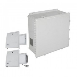 EP242410-O3 STI Polycarbonate Enclosure with NEMA 3R Filter Fan w/ Filter Vent 24 x 24 x 10 Opaque