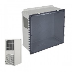 EP242410-T1 STI Polycarbonate Enclosure with Air Conditioner 24 x 24 x 10 Tinted - Non-Returnable