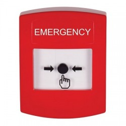 GLR001EM-EN STI Red Indoor Only No Cover Key-to-Reset Push Button with EMERGENCY Label English