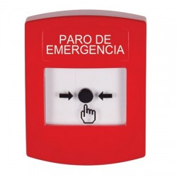 GLR001ES-ES STI Red Indoor Only No Cover Key-to-Reset Push Button with EMERGENCY STOP Label Spanish