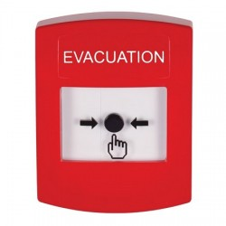 GLR001EV-EN STI Red Indoor Only No Cover Key-to-Reset Push Button with EVACUATION Label English