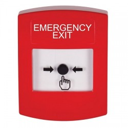 GLR001EX-EN STI Red Indoor Only No Cover Key-to-Reset Push Button with EMERGENCY EXIT Label English