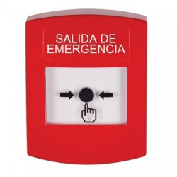 GLR001EX-ES STI Red Indoor Only No Cover Key-to-Reset Push Button with EMERGENCY EXIT Label Spanish