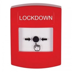 GLR001LD-EN STI Red Indoor Only No Cover Key-to-Reset Push Button with LOCKDOWN Label English