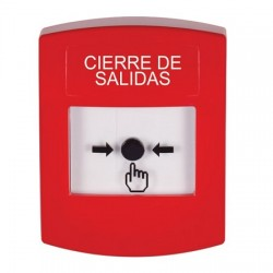 GLR001LD-ES STI Red Indoor Only No Cover Key-to-Reset Push Button with LOCKDOWN Label Spanish