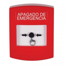 GLR001PO-ES STI Red Indoor Only No Cover Key-to-Reset Push Button with EMERGENCY POWER OFF Label Spanish