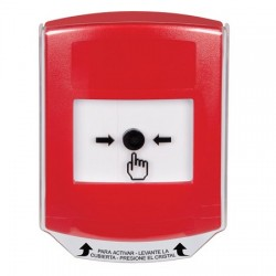 GLR021NT-ES STI Red Indoor Only Shield Key-to-Reset Push Button with No Text Label Spanish