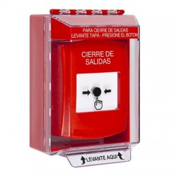 GLR071LD-ES STI Red Indoor/Outdoor Low Profile Surface Mount Key-to-Reset Push Button with LOCKDOWN Label Spanish