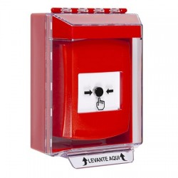 GLR071NT-ES STI Red Indoor/Outdoor Low Profile Surface Mount Key-to-Reset Push Button with No Text Label Spanish