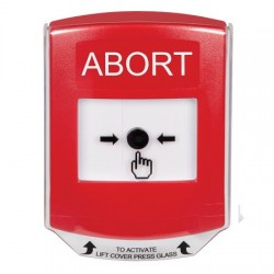 GLR0A1AB-EN STI Red Indoor Only Shield w/ Sound Key-to-Reset Push Button with ABORT Label English