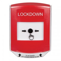 GLR0A1LD-EN STI Red Indoor Only Shield w/ Sound Key-to-Reset Push Button with LOCKDOWN Label English