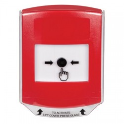 GLR0A1NT-EN STI Red Indoor Only Shield w/ Sound Key-to-Reset Push Button with No Text Label English