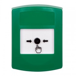 GLR101NT-EN STI Green Indoor Only No Cover Key-to-Reset Push Button with No Text Label English