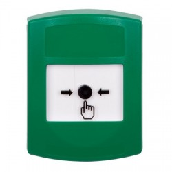 GLR101NT-ES STI Green Indoor Only No Cover Key-to-Reset Push Button with No Text Label Spanish