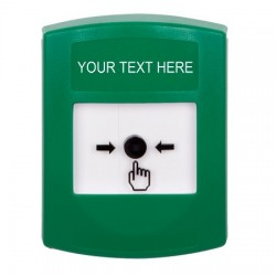 GLR101ZA-EN STI Green Indoor Only No Cover Key-to-Reset Push Button with Non-Returnable Custom Text Label English