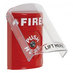 [DISCONTINUED] SS-2020F STI Stopper Station with Stopper Station Shield - Fire - Red
