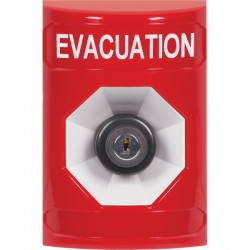 SS2003EV-EN STI Red No Cover Key-to-Activate Stopper Station with EVACUATION Label English
