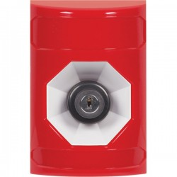 SS2003NT-ES STI Red No Cover Key-to-Activate Stopper Station with No Text Label Spanish