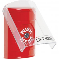 SS2020NT-EN STI Red Indoor Only Flush or Surface Key-to-Reset Stopper Station with No Text Label English