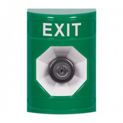 SS2103XT-EN STI Green No Cover Key-to-Activate Stopper Station with EXIT Label English